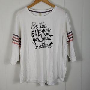 🍓 Cato Active : Be the Energy Varsity Stripe Top